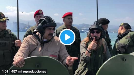 El ridículo vídeo de Nicolás Maduro en el que muestra los anfibios con los que pretende defender Venezuela