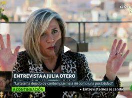 Julia Otero se queja de que no la quieren en televisión