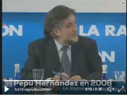 Pepu Hernández apostaba por el PP frente al PSOE