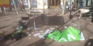 Sabotaje por parte de la ultraizquierda radical a un acto de VOX en Ávila