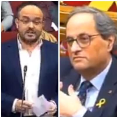 Vapulea Alejandro Fernández a Quim Torra