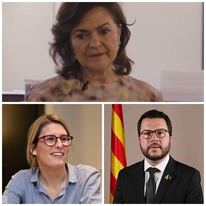 Carmen Calvo separatistas grupo WhatsApp