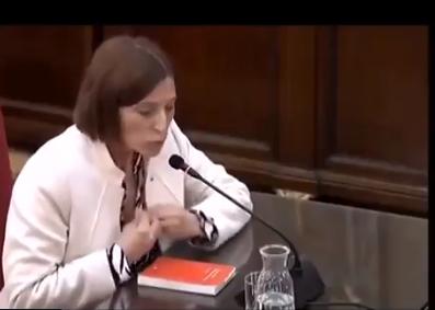 Carmen forcadell canguelo jueces miente