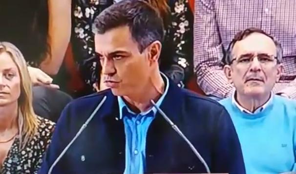 Pedro Sánchez chulito manifestación de Colón