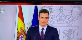 Vergonzosa actitud de Pedro Sánchez dando un mitin electoral desde La Moncloa