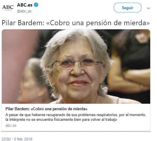 El zasca a la roja de Pilar Bardem