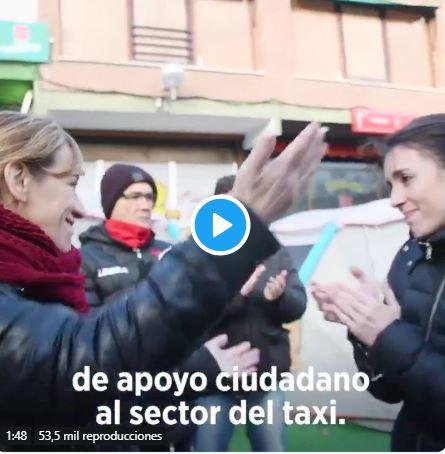 demagogia de Irene Montero con los taxistas