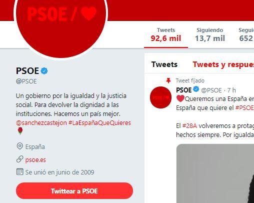 El PSOE se ve obligado a usar artimañas para ser tendencia en Twitter