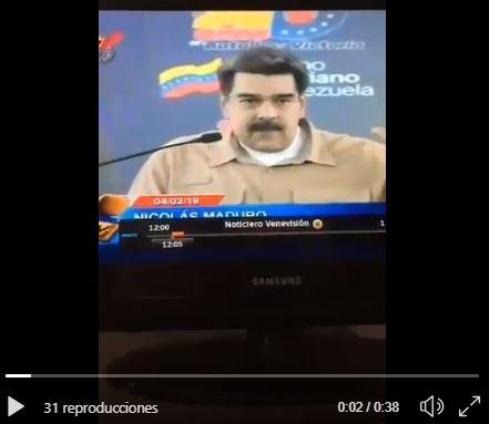 Maduro se marca un Rajoy al insultar a Pedro Sánchez