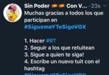 VOX revoluciona Twitter con el #SiguemeYTeSigoVOX