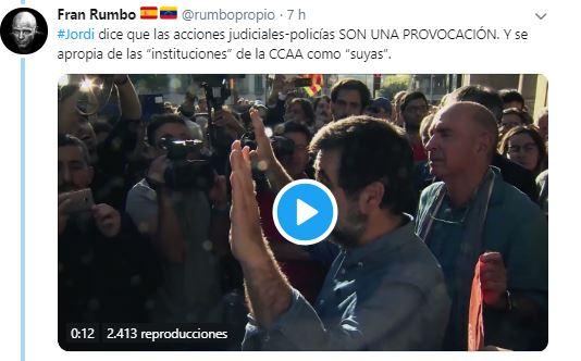 interesante hilo de Twitter que demuestra que Jordi Sánchez miente