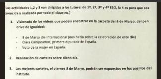Directora instituto castiga niños 8 de marzo