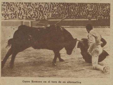 Crónica de la alternativa de Curro Romero