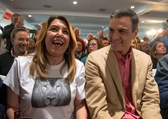La camiseta con mensaje con la que Susana Díaz ha recibido a Pedro Sánchez en Jaén