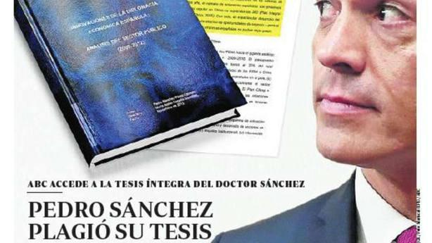 La mentira de Pedro Sánchez sobre el plagio