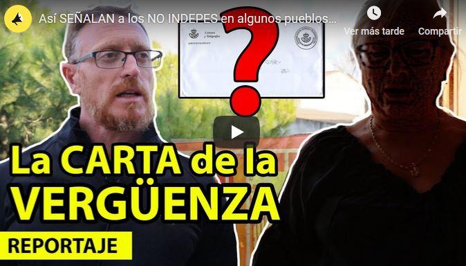 asquerosa y amenazante carta que reciben patriotas españoles en Cataluña