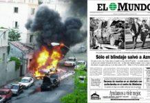 ETA José Mª Aznar 29 abril de 1995 y en 2001
