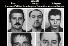 Todas las víctimas de ETA Juan Carlos González Rentero Vicente Javier Domínguez González Juan José Catón Vázquez Juan Mateos Pulido Alberto Alonso Gómez (25/04/1986)