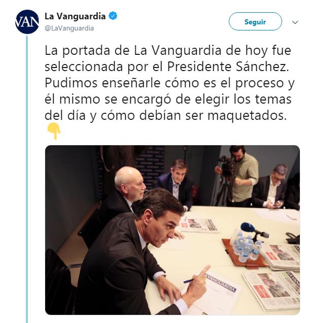 La Vanguardia Pedro Sánchez