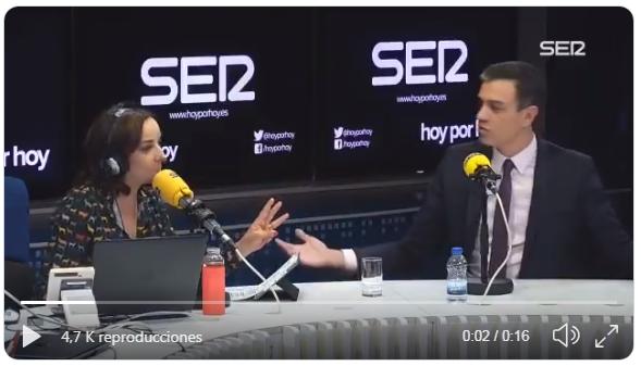 Pedro Sánchez la SER