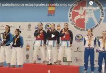 El patriotismo de estas karatekas te emocionará