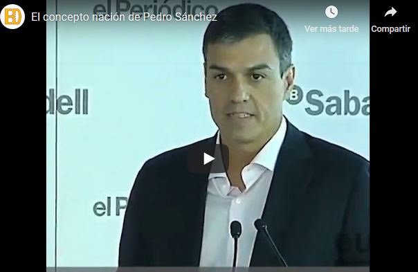concepto de nación de Pedro Sánchez