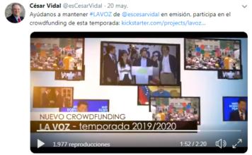 El Diestro crowdfunding #LAVOZ @esCesarVidal