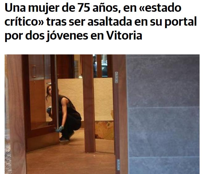 Marroquíes estado crítico anciana golpearla y robarla