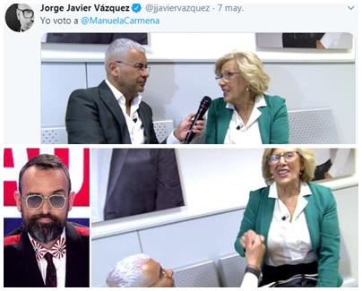 Campaña Jorge javier Vázquez a favor de Manuela Carmena