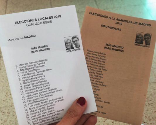 Miembro candidatura de Carmena Errejón votantes tontos