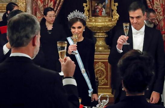 La Reina Letizia y Pedro Sánchez