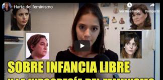 Vídeo youtuber harta del feminismo