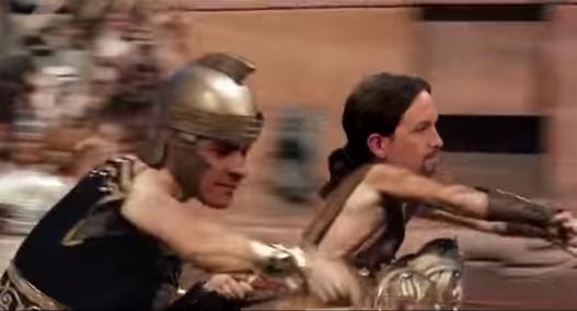 Ben Hur Pedro Sánchez y Pablo Iglesias