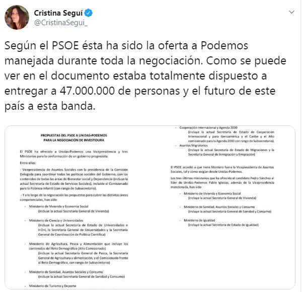 Pedro Sánchez documento exigencias Podemos