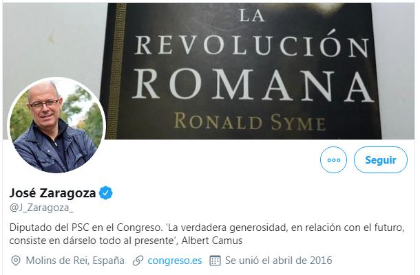 La lista del diputado del PSC/PSOE