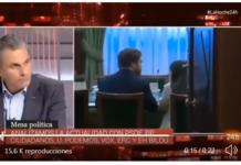 Javier Ortega Smith durante el debate en TVE