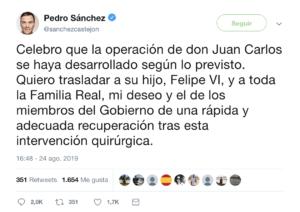 vergonzoso tweet de Pedro Sánchez