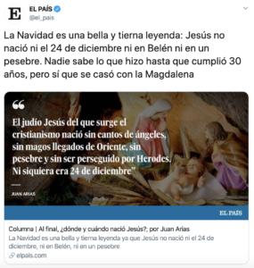 insultar a los cristianos