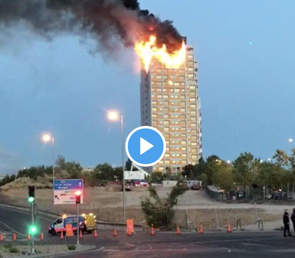 incendio de un edificio de viviendas