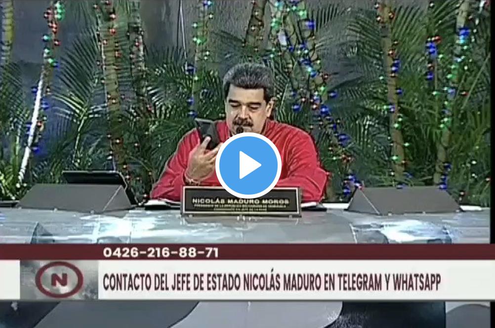 teléfono de Nicolás Maduro