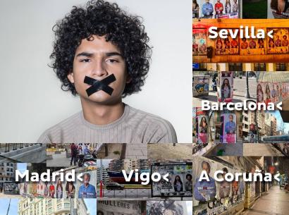 """Spanien: Landesweite werden die Städte mit dem Hinweis auf """"The Great Reset"""" voll tapeziert"""