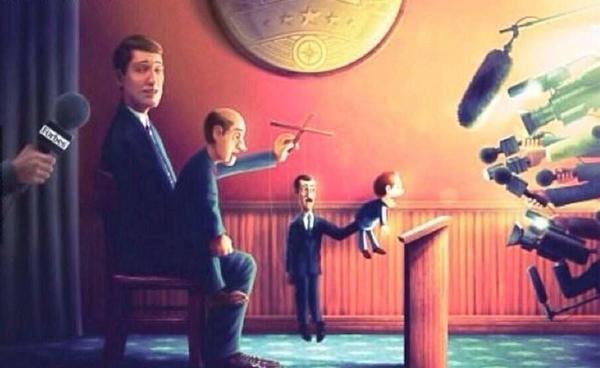 políticos títeres